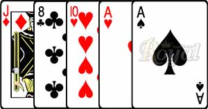 One pair Card Poker AA